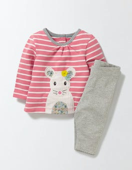 Peach Sorbet/Mouse Animal Friends Jersey Play Set