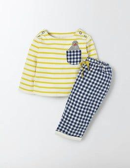 Cantelope Stripe/Seal Fun Pocket Play Set