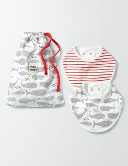 Grey Whales Whales 2 Pack Dribble Bibs