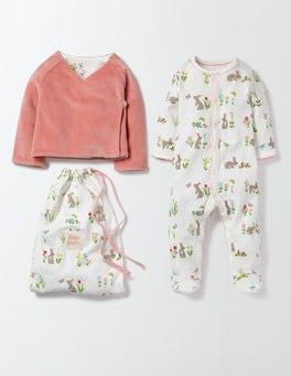 Multi Bunnies Pretty Sleepsuit & Jacket