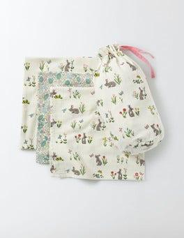 Bunnies 3 Pack Muslin Cloths