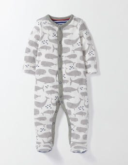 Whales Super Soft Sleepsuit