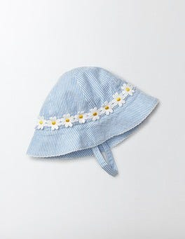 Bright Bluebell Stripe Pretty Woven Hat