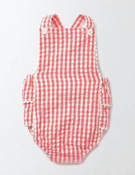 Coral Crush/Pink Fizz Gingham Nostalgic Summer Playsuit