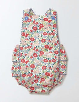 Peach Sorbet Mini Flower Bed Nostalgic Summer Playsuit