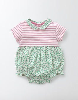 Corsage Summer Berry Hotchpotch Collar Romper