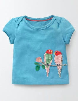 Delphinium Blue Animal Friends T-shirt