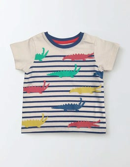 Ivory/Crocodiles Summer Stripy T-shirt
