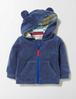 Dusky Blue Baby Towelling Hoodie