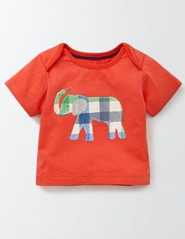 Red Crayon/Elephant Jungle Animal T-shirt