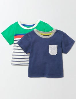 Dusky Blue/Stripe Pack Summer Twin Pack T-shirt