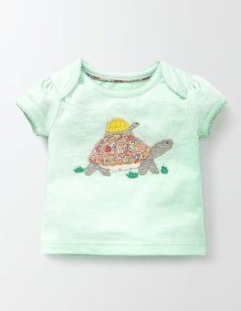 Azure Mist/Tortoise Pretty Patchwork T-shirt