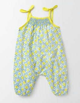 Hazy Blue Lemons Summer Days Playsuit