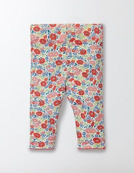 Peach Sorbet Mini Flower Bed Baby Leggings