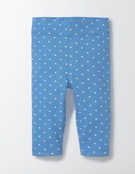 Bright Bluebell Pin Spot Baby Leggings