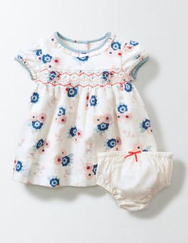 Summer Poppy Blossom Blossom Smock Dress