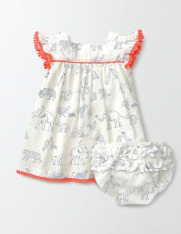 Ivory Story Book Pretty Floaty Dress