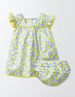 Hazy Blue Lemons Pretty Floaty Dress