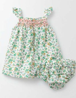 Multi Summer Floral Summer Smocked Dress