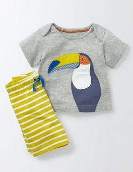 Grey Marl/Toucan Fun Summer Jersey Play Set