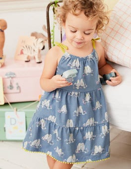 Tiered Summer Jersey Dress