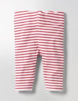 Ecru/Jam Red Baby Leggings