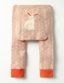 Vintage Pink Bunny Knitted Leggings