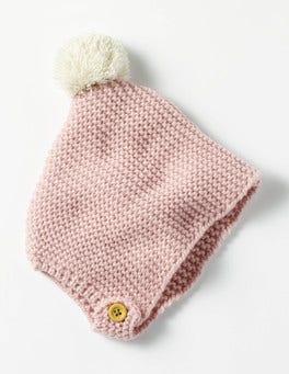 Vintage Pink Knitted Bonnet