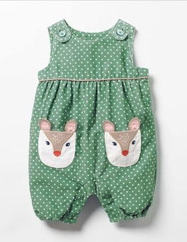 Csarite Green Deer Fun Cord Playsuit