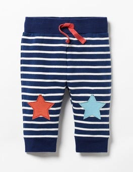 Beacon Blue/Ecru Stars Fun Knee Trousers