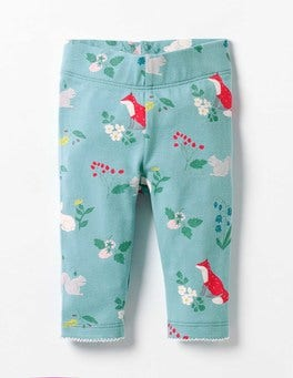 Frost Blue Winter Woodland Baby Leggings