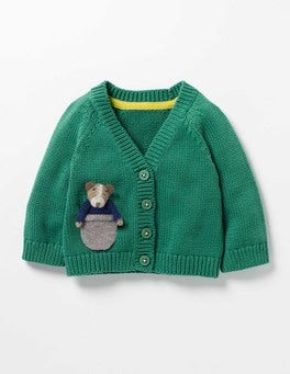 Greenhouse Green Marl Sprout Pocket Pet Cardigan