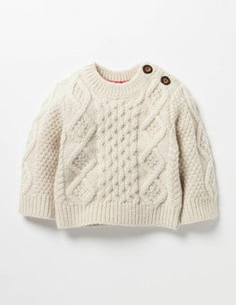 Ecru Marl Cosy Cable Sweater