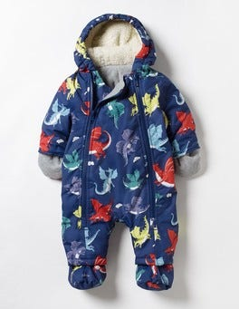 Starboard Blue Baby Dragons Baby Snowsuit
