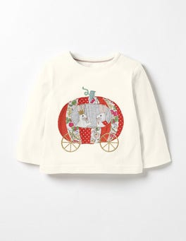Ecru Pumpkin Bunnies Fairytale Friends T-shirt