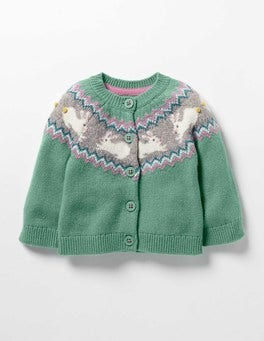 Csarite Bunnies Fair Isle Cardigan