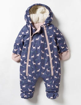 Naval Blue Baby Fawn Baby Snowsuit