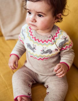 Hop Along Knitted Playsuit