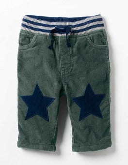 Heath Green Star Patch Pants
