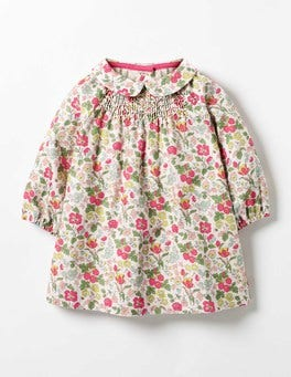 Multi Mini Wild Berry Printed Smock Dress
