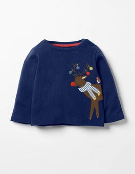 Beacon Blue Reindeer Festive Friends T-shirt