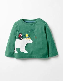 Greenhouse Green Polar Bear Festive Friends T-shirt