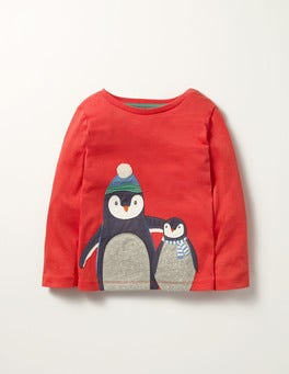 Crayon Red Penguins Festive Friends T-shirt