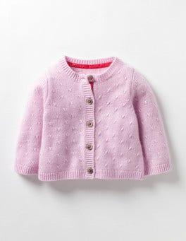Rose Vintage Gilet bébé en cachemire