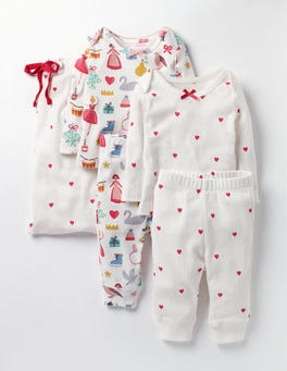 Multi Mini Christmas/Hearts Cosy Pointelle Pack