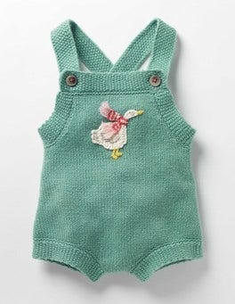 Csarite Green Goose Festive Knitted Playsuit