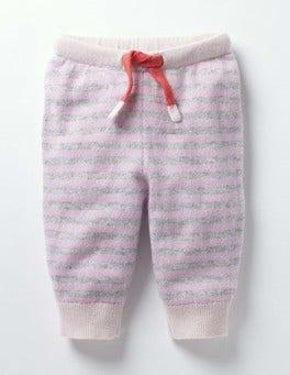 Vintage Pink/Ecru Marl Cashmere Joggers