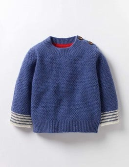 Denim Blue Marl Baby Cashmere Jumper