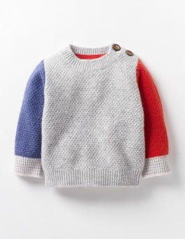 Grey Marl Baby Cashmere Jumper