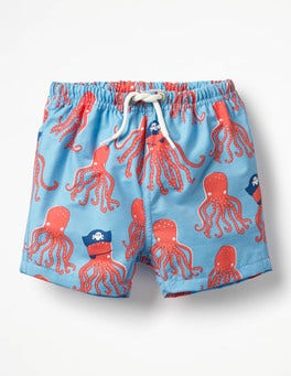 Grotto Blue Captain Octopus Baby Bathers